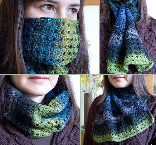 This flexi cowl pattern looks easy and the finished product looks really helpful for the cold weather here in Rochester