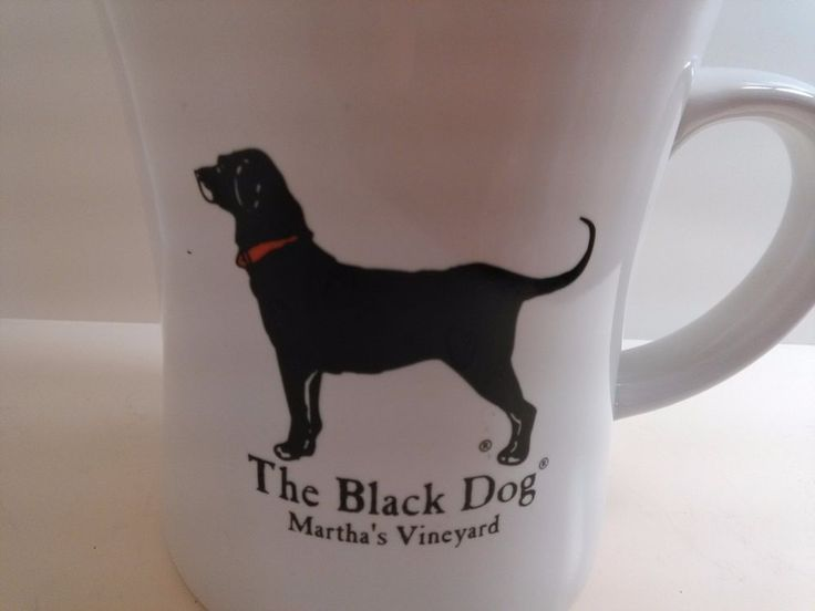 FREE SHIPPING Only $14.99 Black Dog Martha's Vineyard Mug Coffee Cup Diner Mug  Labrador Retriever  Massachusetts Pub Mug Black Lab Dog Lover Mug