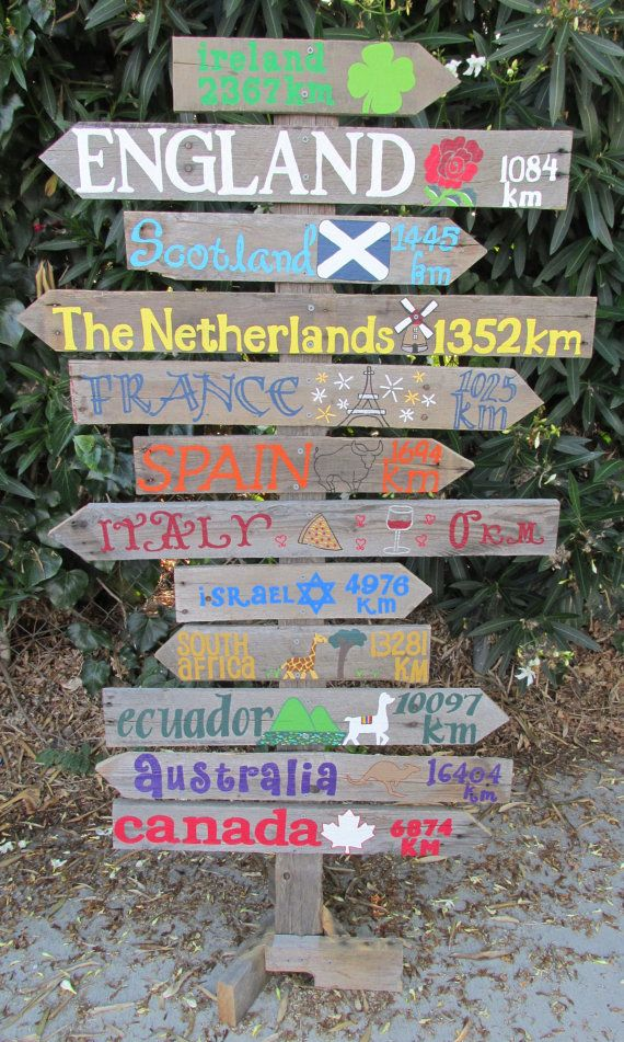 Personalized Driftwood Travel Sign with by PeaceLoveDriftwood