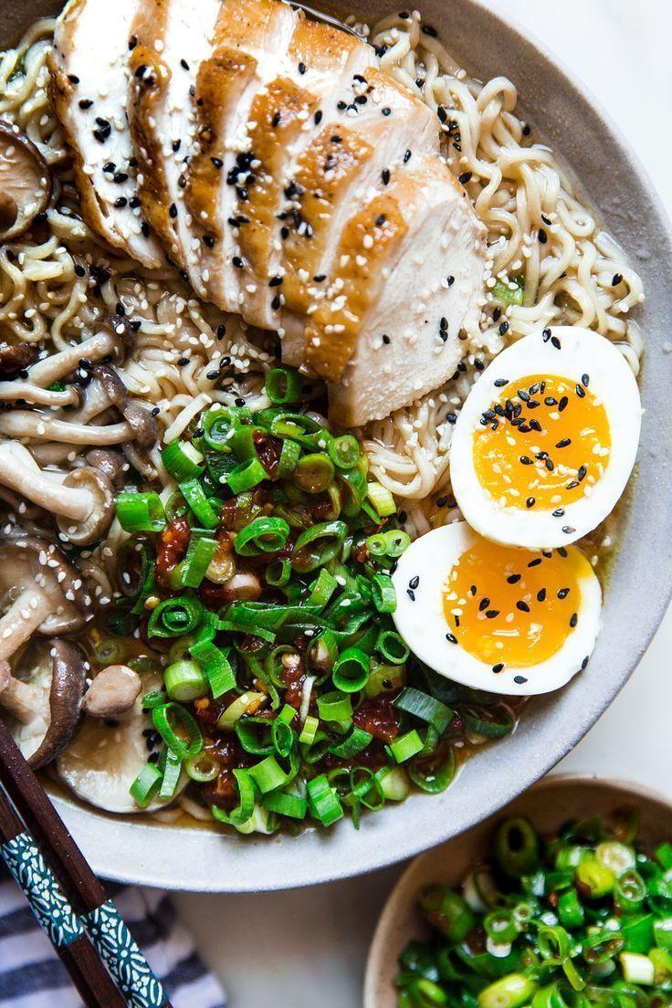Einfaches Huhn-Ramen-Suppen-Rezept