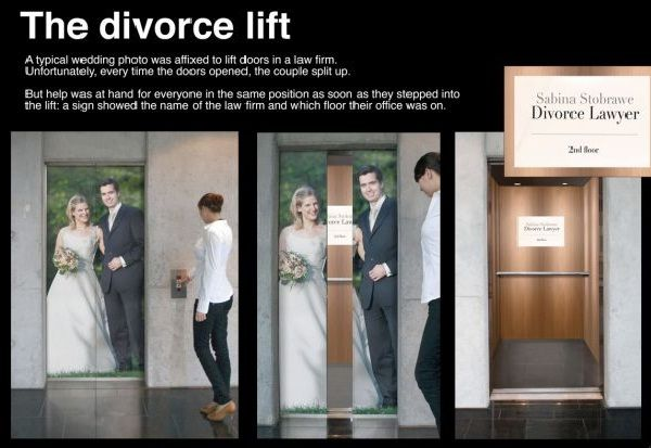 A clever lawyer-Creative elevator ads