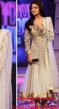 Lush Brown & Off White Salwar Kameez