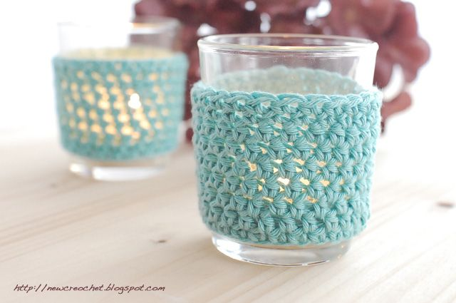 the new crochet: Crochet your own tealight covers http://newcrochet.blogspot.be/2013/02/crochet-your-own-tealight-covers.html