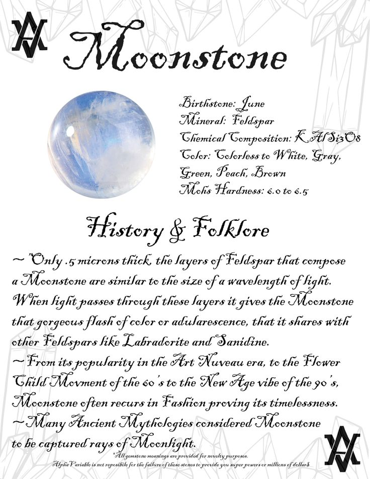 Moonstone Gemstone Meanings by AlphaVariable History ...