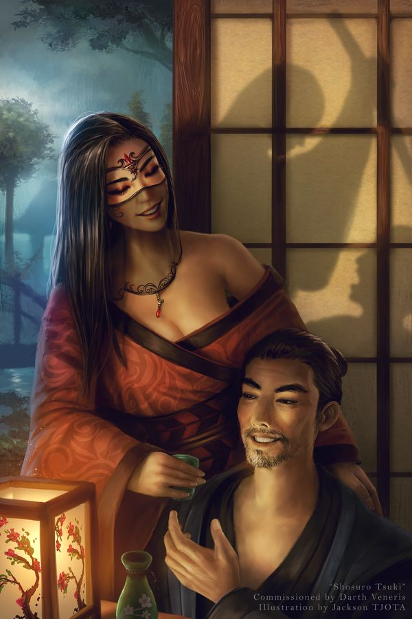 """Second Work for Again, this is based on """"Legend of the Five Rings"""" role-playing game, which is set in medieval fantasy Japan. Officially Shosuro Tsuki is a courtier from the Scorpion clan but she's..."""