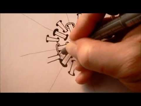 How to draw tanglepattern Orb - Ellen Wolters