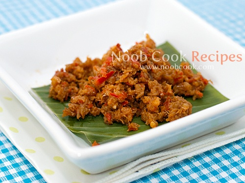 """Spicy Dried Shrimps Sambal ~ aka Hae Bee Hiam Spicy dried shrimps sambal or more commonly known locally as """"hae bee hiam"""" (alternate spellings: hay bee hiam/hei bi hiam) is a popular condiment in Singapore and South East Asia. I use my base home-made sambal belacan and stir fry it with chopped dried"""