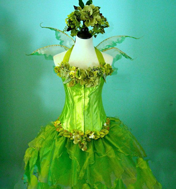 Fairy Costume - The Woodland Meadow Faerie - adult size medium - corset top - Spring Wedding