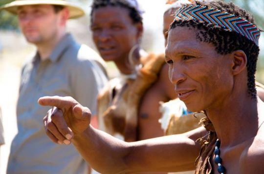 Bushmen at Meno a Kwena Camp  (Makgadikgadi Pans, Botswana). Looks like a place you wanna go? Just let us know: info@gondwanatoursandsafaris.com