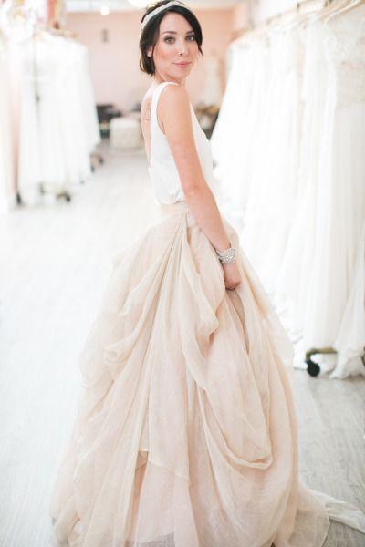 Fun layers of tulle: http://www.stylemepretty.com/little-black-book-blog/2015/06/12/8-tips-for-finding-the-perfect-wedding-dress/   Photography: Josh Gruetmacher - http://www.joshgruetzmacher.com/
