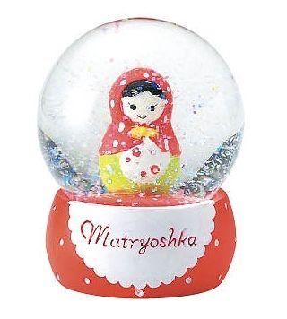 matryoshka snow globe, from rakuten