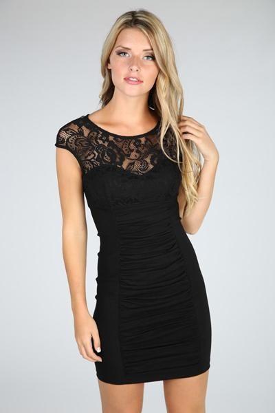 Lace Overlay Sleeveless Dress