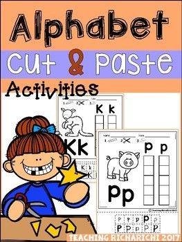 Inside you will find 26 Alphabet Cut and Paste pages.These are great for identifying uppercase and lowercase letters.I would appreciate your feedback.If you have any questions, feel free to contact me at :teachingricharichi@gmail.com