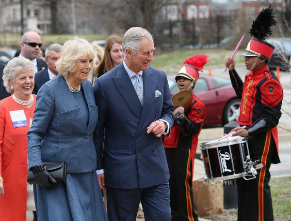 Camilla, Duchess of Cornwall and Prince Charles, Prince of Wales arrive at the Centre for African American Heritage on the fourth day of a visit to the United States on March 20, 2015 in Louisville, DC.  The Prince and Duchess are in Washington the part of the Four day visit to the United States.