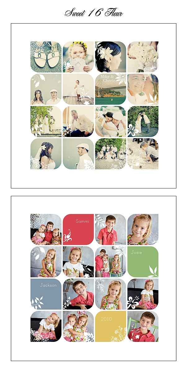 photo collage template via designaglow.com (detail)