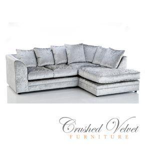 grey velvet chair crushed velvet sofa silver | Crushed Velvet Furniture | Sofas, Beds, Chairs, Cushions