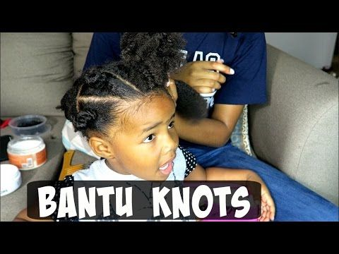 Easy Bantu Knot Style For Kids - YouTube