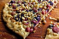 grape focaccia bread...maybe with walnuts instead of pine nuts?