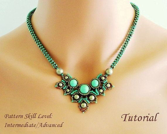 CHIMERE beaded necklace beading tutorial beadweaving pattern seed bead beadwork jewelry beadweaving tutorials beading pattern instructions