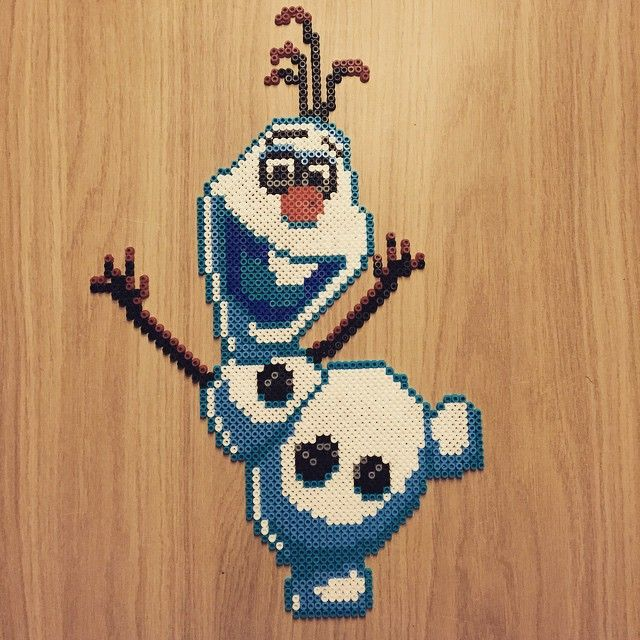 Olaf - Frozen hama perler beads by bianca11483