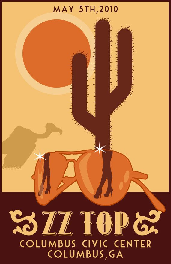 ZZ TOP concert tour poster #concertposters
