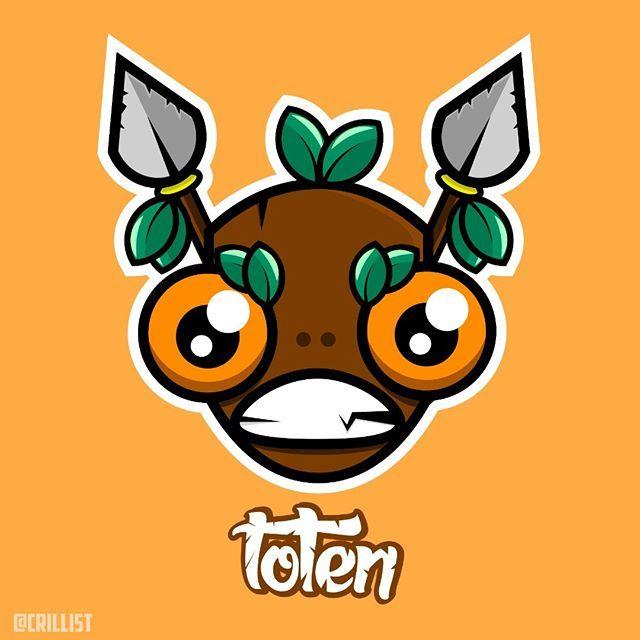 Toten  #graphic #graphicdesign #creative #illustrator #illustration #design #job #adobe #drawing #art #vector #toten #cartoon #brazil #rj #novafriburgo #wood #leaf #spear #forest #jungle #mask #crillist #jonatas #vieira