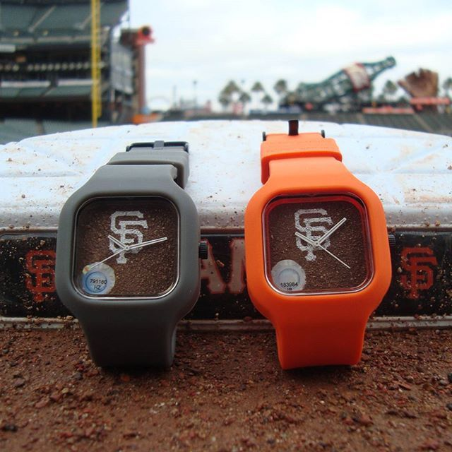 SF Giants Dirt Watch by Modify Watches. Available exclusively at brick and mortar SF Giants Dugout Store