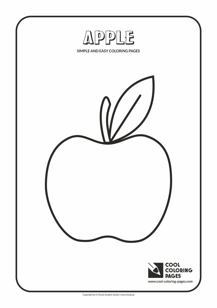 Simple and easy coloring pages for toddlers - Apple