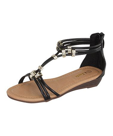 Love this Black Filosia Sandal by Link on #zulily! #zulilyfinds $14.99