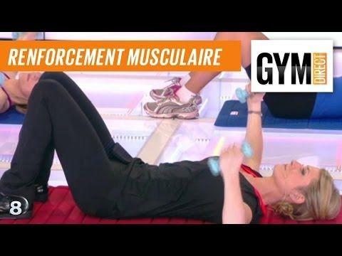 Cours gym : renfort musculaire 4 : Au sol avec des poids - YouTube