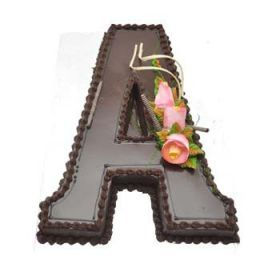 Beautiful Alphabet Cake of your preferred Flavour is a Perfect Choice for Birthday to Send your Warm Regards & Blessings With through Shop2Hyderabad.com.