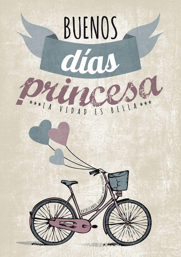 """""""Buenos días princesa. He soñado toda la noche contigo. Íbamos al cine y tú llevabas aquel vestido rosa que me gusta tanto. Solo pienso en ti princesa... pienso"""