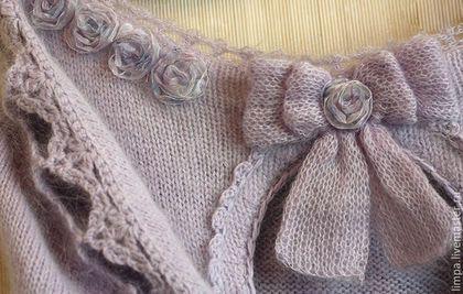 """Кофты и свитера ручной работы. Блузка из ангоры и кид-мохера """"Цветы лиловые полей"""". Limpa-style. Ярмарка Мастеров."""