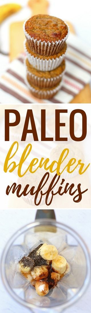 Paleo Blender Muffins http://www.pbfingers.com/paleo-blender-muffins/ Made with a base of ripe bananas and almond flour, these Paleo Blender Muffins are a gluten-free and dairy-free treat, perfect for an on-the-go snack or breakfast. (They're also toddler approved!)