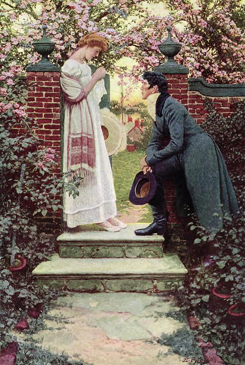 When All the World Seemed Young - Howard Pyle  1909--Makes me think of PRIDE & PREJUDICE.