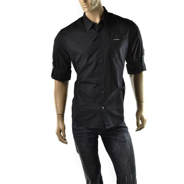 DKNY Jeans Shirt Mens Roll Sleeve Button Up Utility Shirts SZ XL Donna Karen $59  | Get Dressed at http://ImageStudio714.com http://stores.ebay.com/ImageStudio714