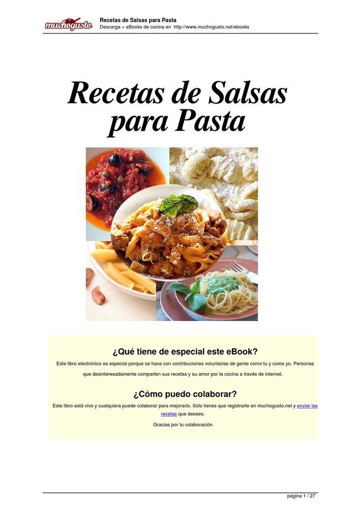 Recetas Recetarios de Salsas para Pastas