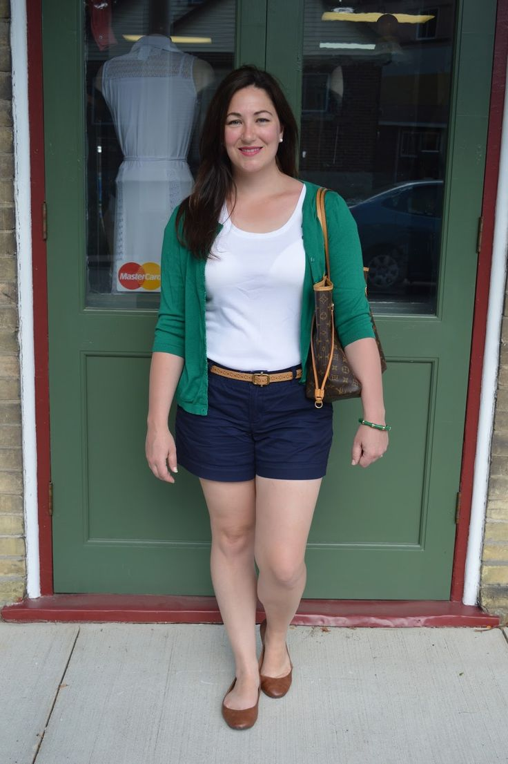 Blue and green summer outfit
