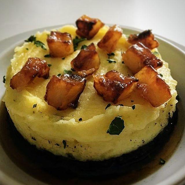 #Parmentier boudin noir / pomme fruit caramélisées #yesicook #yummy #pornfood #foodstagram #foodporn #food #instafood
