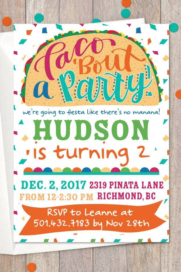 Taco Bout A Party Fiesta Invitation Mexican Birthday First