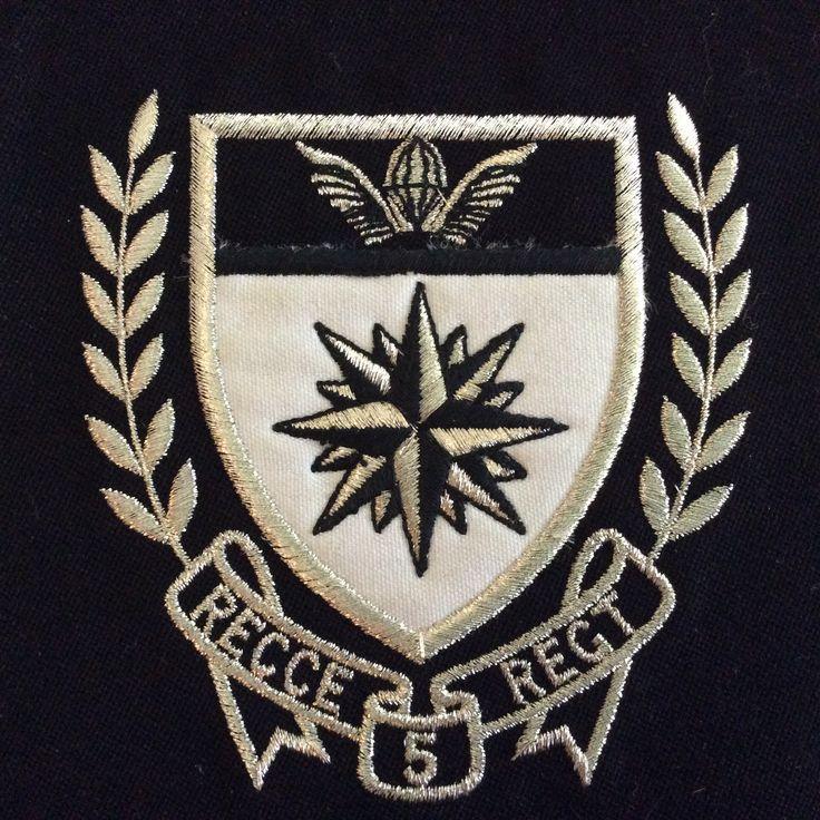5 Recce honor badge - worn on blazer