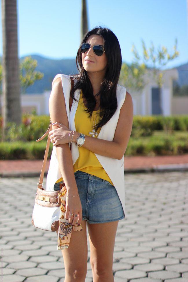 look do dia colete branco estilo fashion moda borboletas na carteira-11