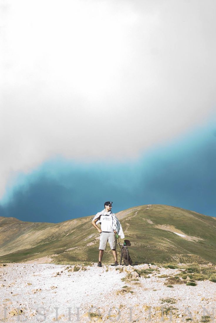 A man and his dog at the Continental Divide near Denver. Love the Rocky Mountains! Taken by me, Jesi Hoolihan Photography on Fuji 400H 35mm film. Film is not dead.