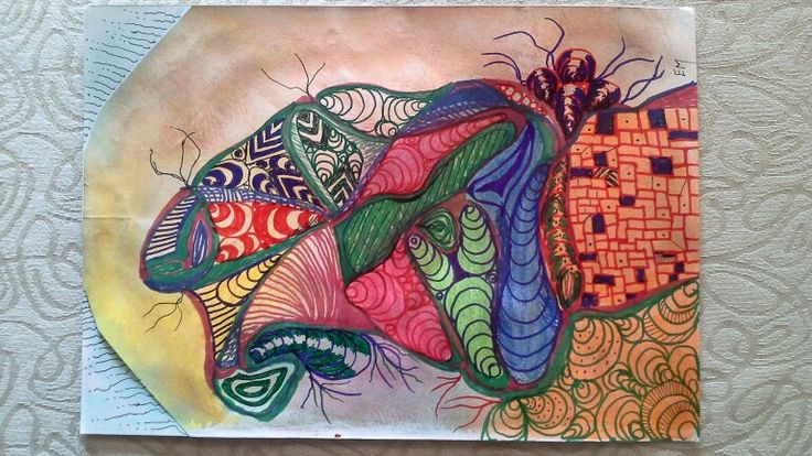 Butterfly doodle. Original on sketchpaper by Elsa Marthinsen