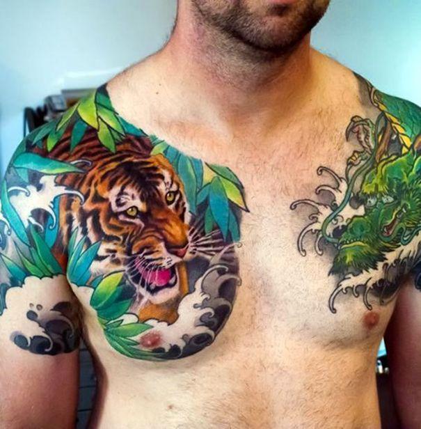 Tiger Dragon Chest Tattoo: Best 20+ Tiger Tattoo Design Ideas On Pinterest