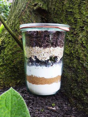 Koekjes in een pot.   110 gram bloem + iets zout en een 1/2 theelepel bakpoeder  -75 gram bruine suiker  -75 gram poedersuiker  -100 gram gedroogde cranberries  -65 gram havermout  -130 gram geraspte chocolade (wit of bruin)