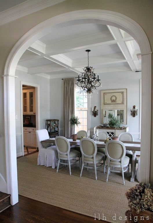 Notice how the extensive use of molding right onto the for Homes without dining rooms