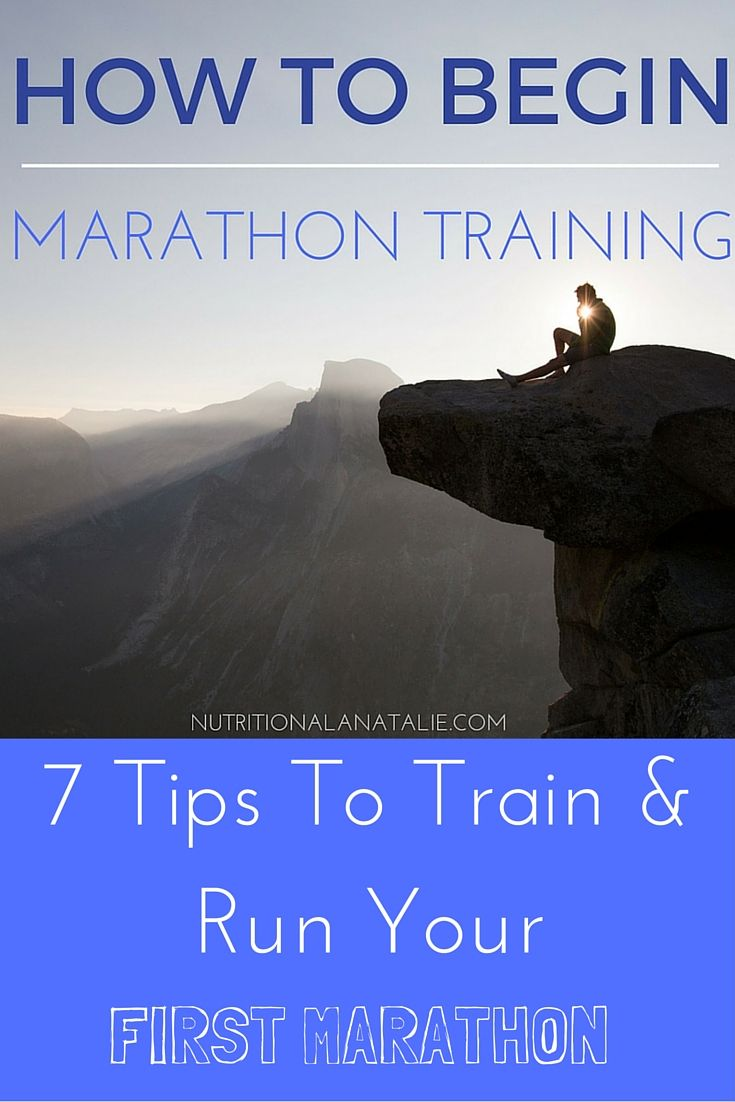 Signed up for a marathon, but don't know where to start? Follow these 7 tips to train and run your first #marathon!