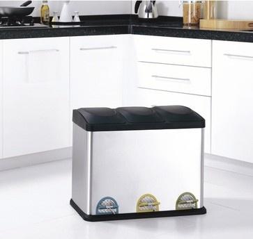stepon recycling bin 118 gallons modern kitchen trash cans