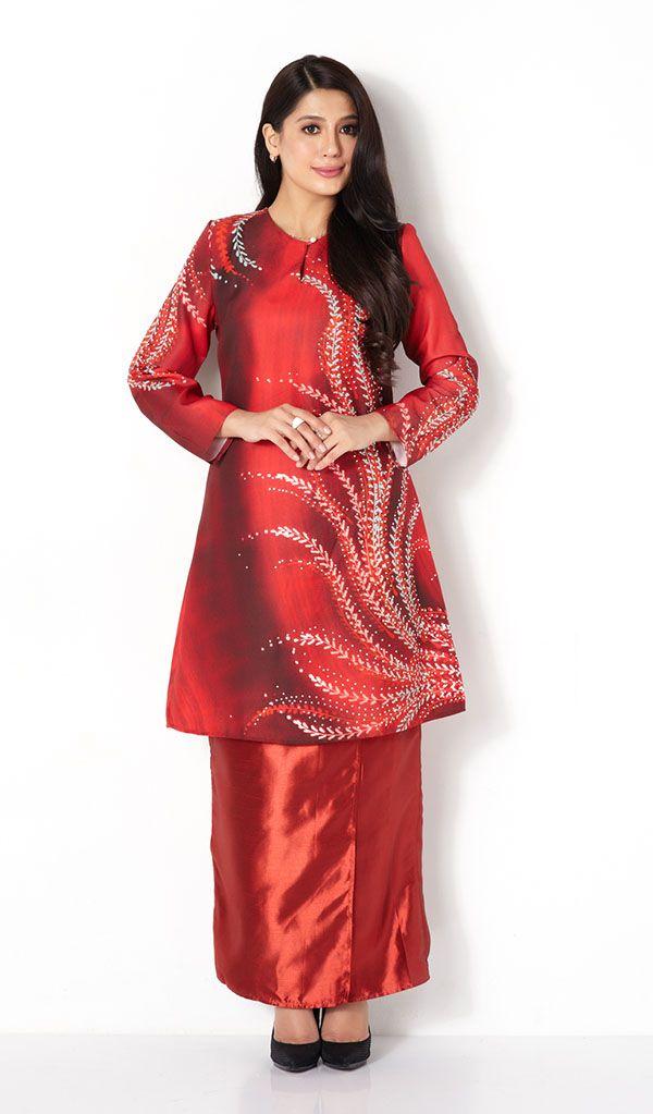 First Lady Fern Print Modern Baju Kurung Kebaya Amp Baju